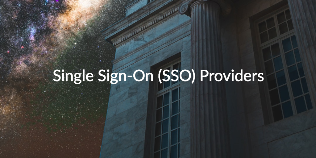 single sign on SSO providers