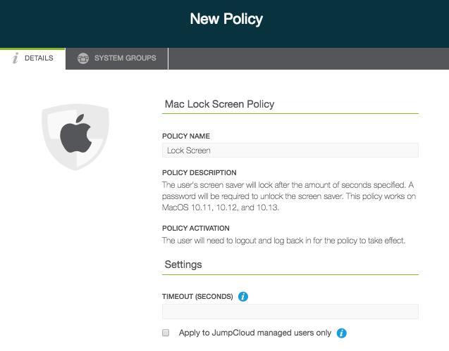 mac screen saver lock