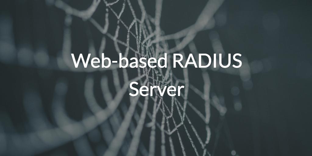 Web-based RADIUS Server