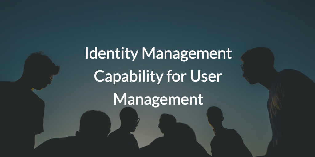 Identity Management Capability for User Management