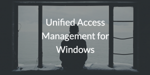 Unified Access Management for Windows