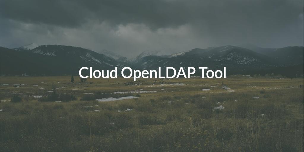 Cloud OpenLDAP Tool