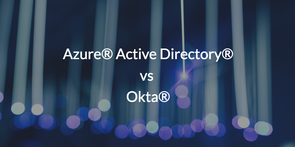 Active Directory and Okta are competitors in web app SSO