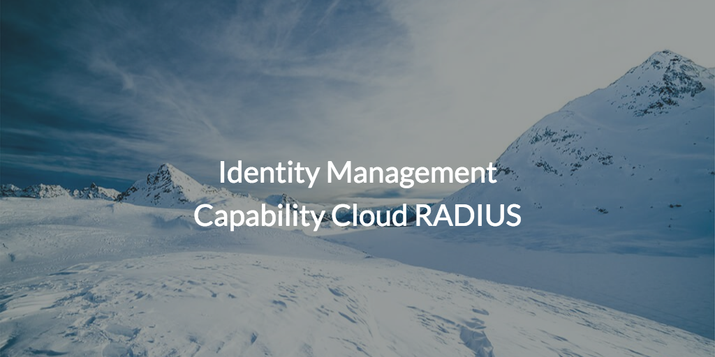 Identity management capability cloud RADIUS