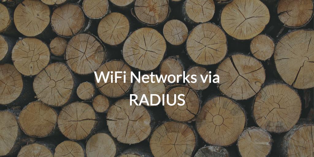 Managed user access to WiFi via RADIUS
