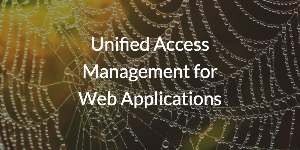 Unified Access Management for Web Applications