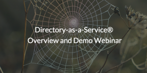 Directory-as-a-Service written over web photo