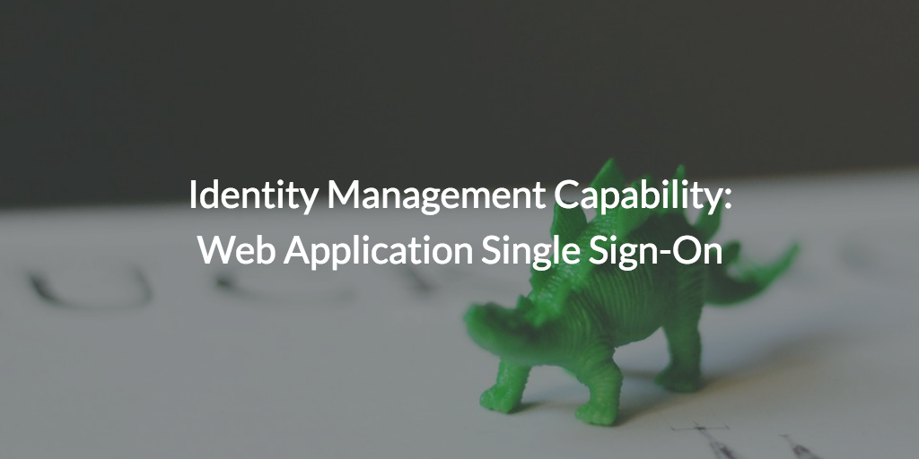 Identity Management Capability: Web Application Single Sign-On