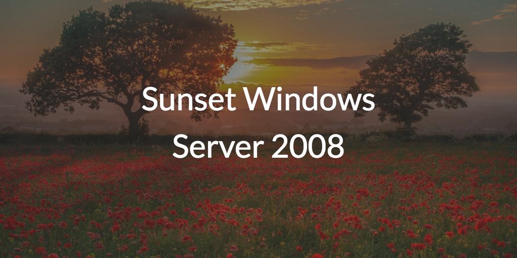 Sunset Windows Server 2008