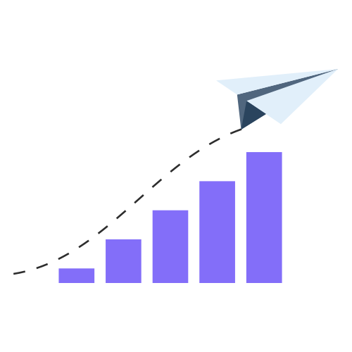 paper-airplane-and-purple-bar-graph