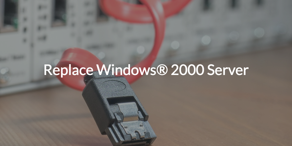Replace Windows 2000 Server Written over image of unplugged SATA cable