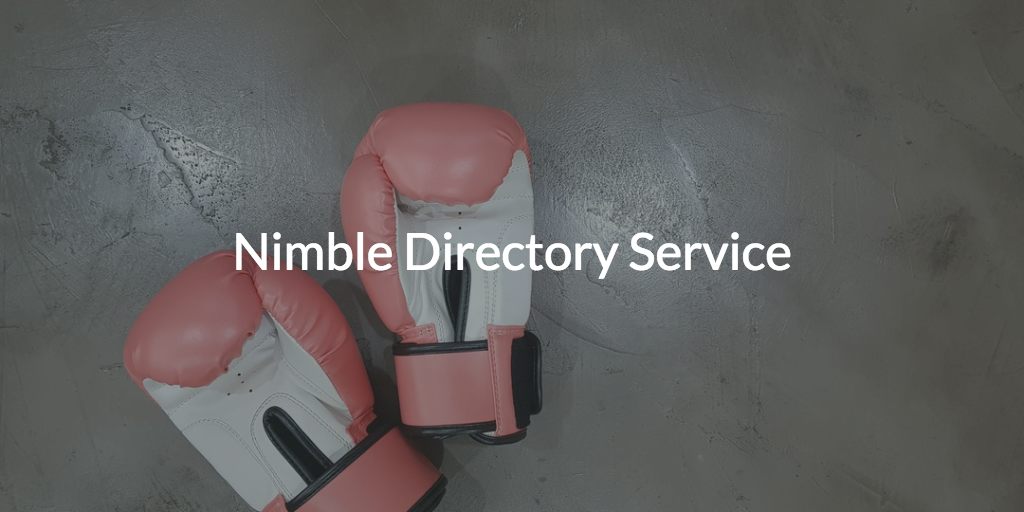 What is a nimble directory service?