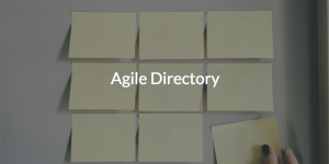Agile Directory (pic of post it notes)
