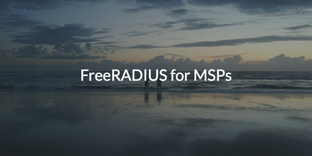 FreeRADIUS Solution for MSPs (pic of landscape with clouds and water)
