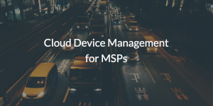System Management from the Cloud MSPs (pic of cars)