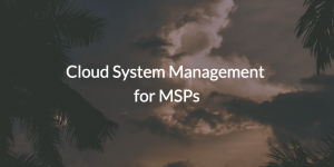 Hosted System Management for Managed Service Providers (pic of clouds)
