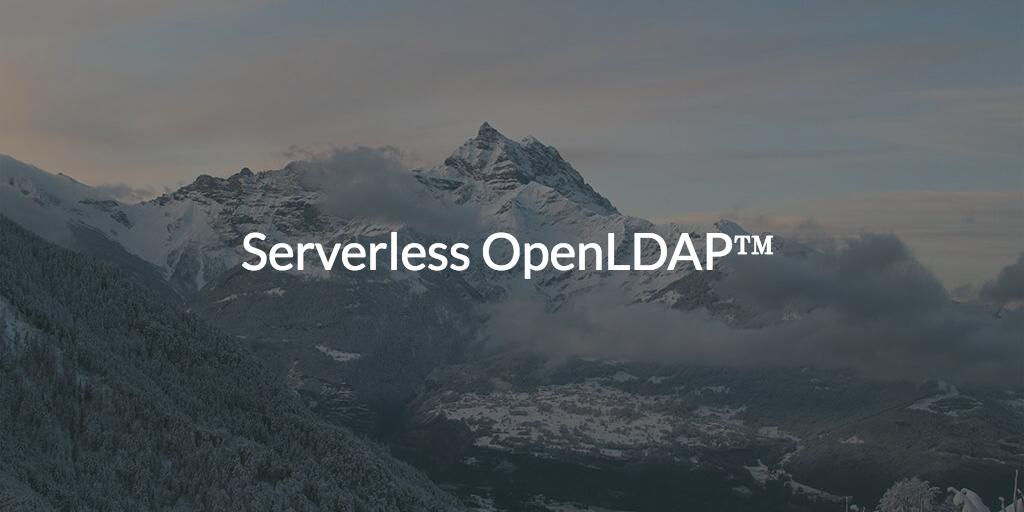 Serverless OpenLDAP