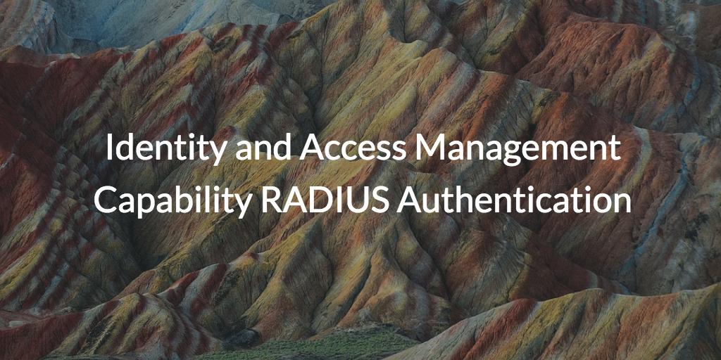 IAM RADIUS Authentication