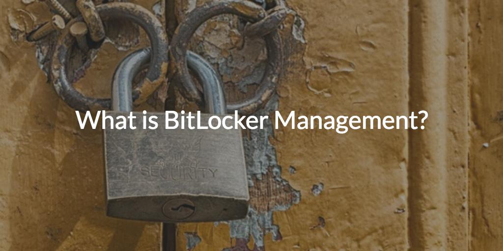 BitLocker Management Recovery Keys