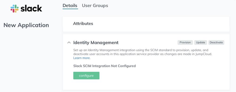 Managing Slack app user identities with JumpCloud